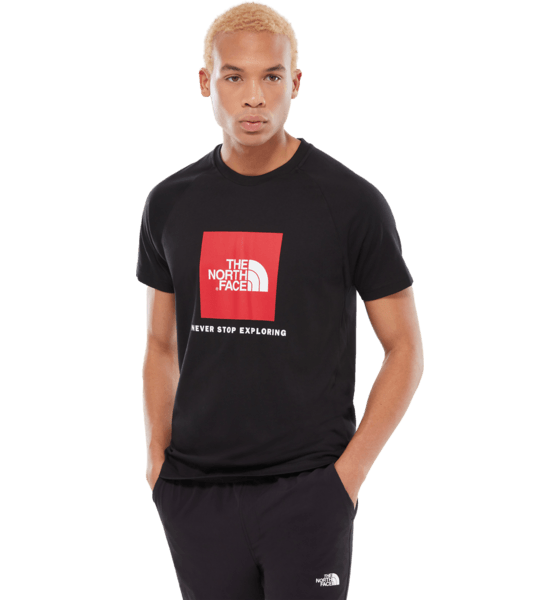 The North Face M Raglan Red Box Tee T-shirts TNF BLACK