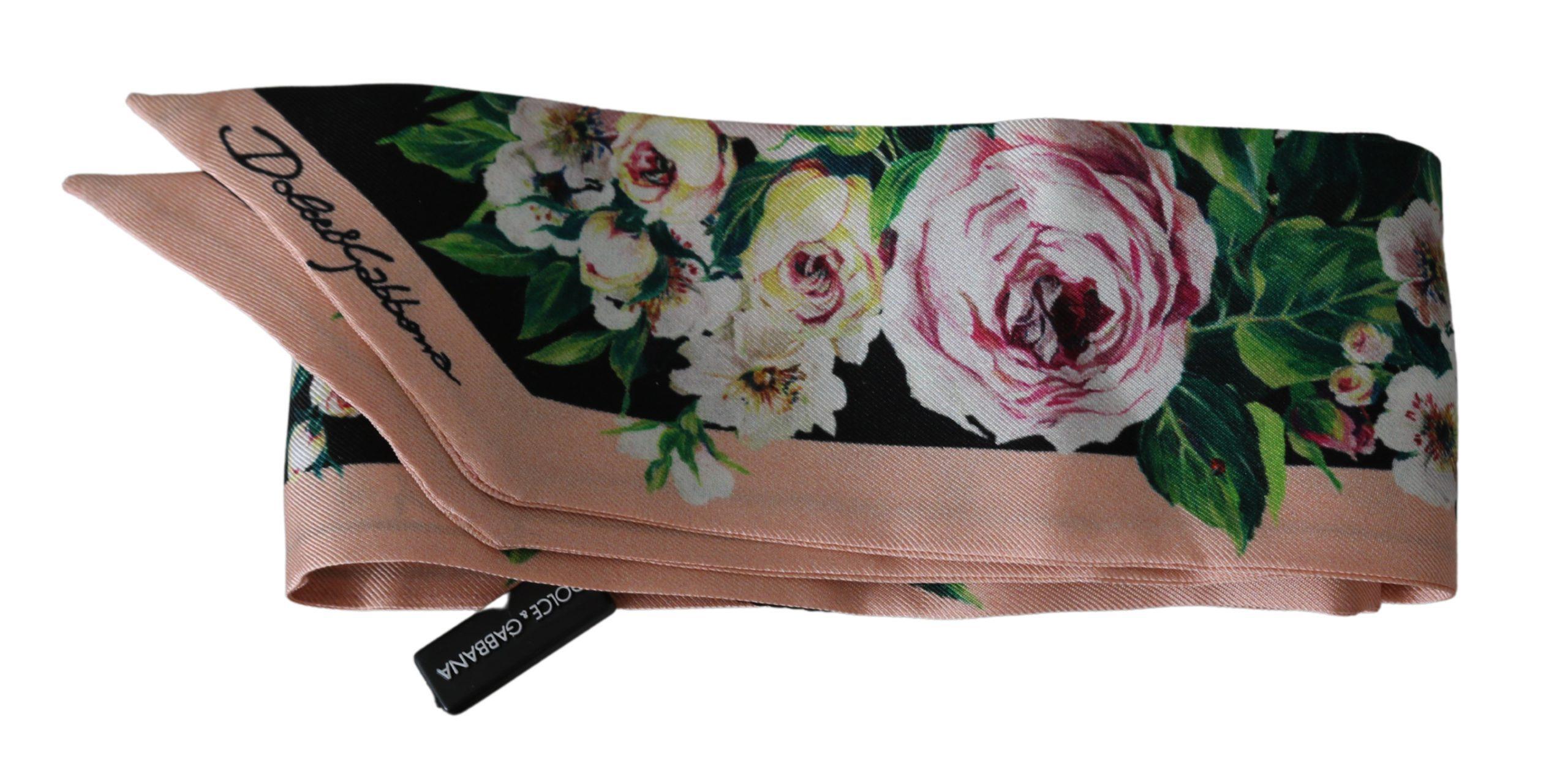 Dolce & Gabbana Women's Silk Necktie Bandeau Scarf Multicolor MS1722BG