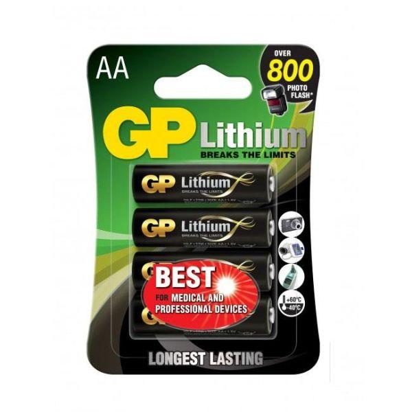 GP Batteries 15LF-2U4 Litiumbatteri 1.5V, 4-pakk AA
