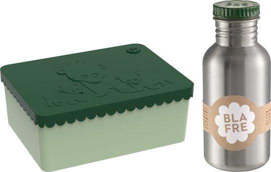Blafre Matboks Bjørn & Stålflaske 500 ml, Mørkegrønn