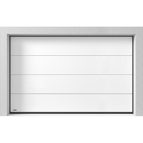 Garasjeport Leddport Moderne Basic Hvit, 3000x2125