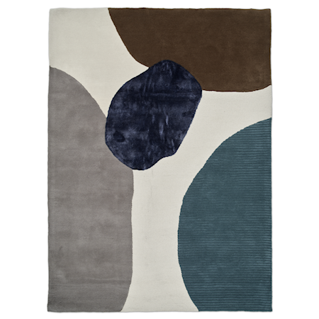 Topaz Matta Ivory/Teal 170x230 cm