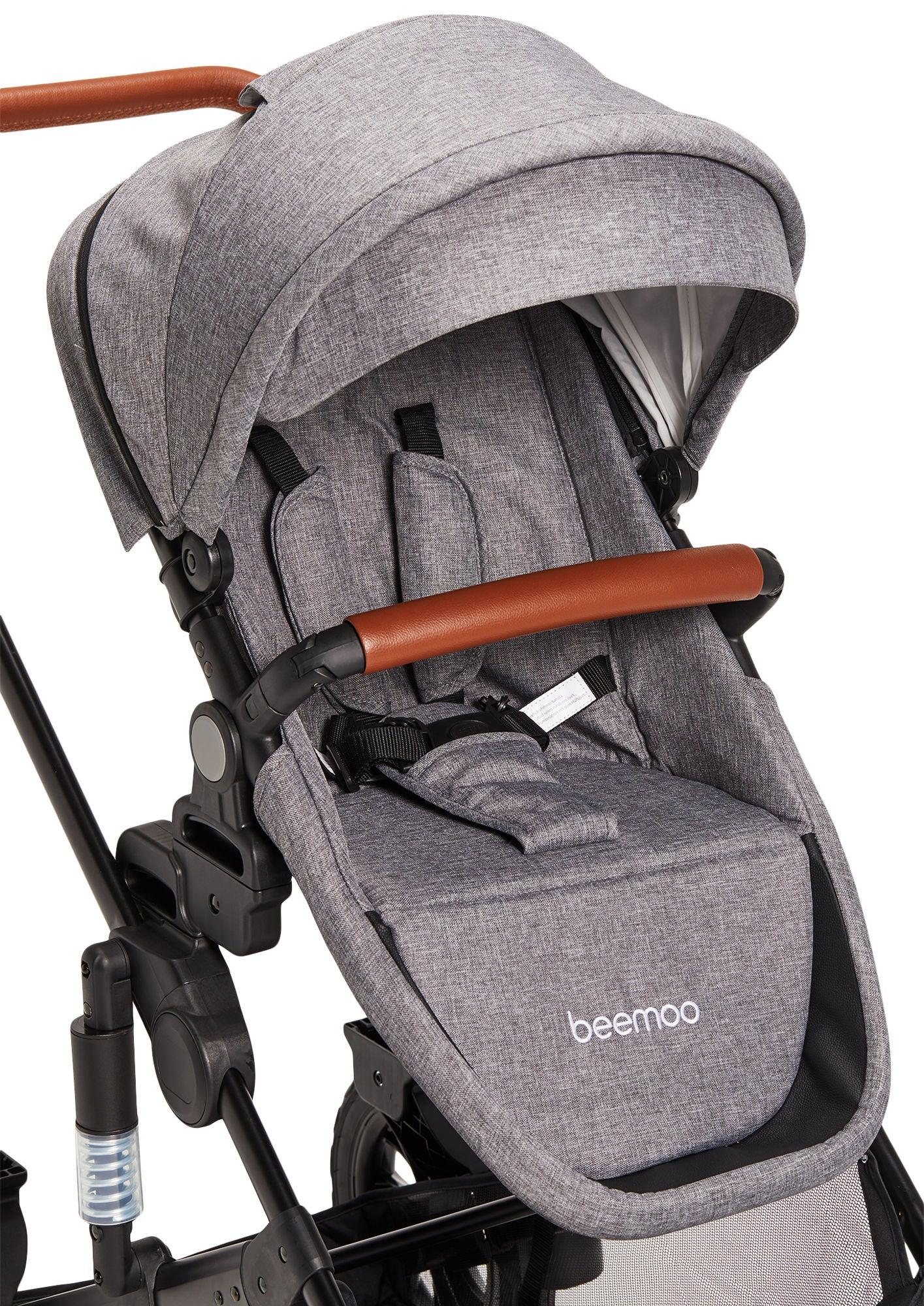 Beemoo Maxi 4 Syskonsits, Grey/Black
