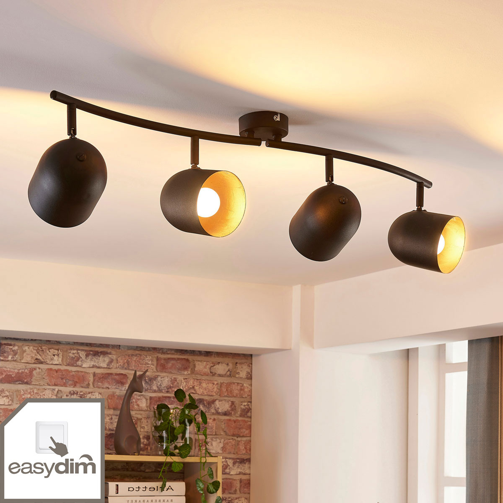 4-lamppuinen LED-kattokohdevalo Morik, himmennys