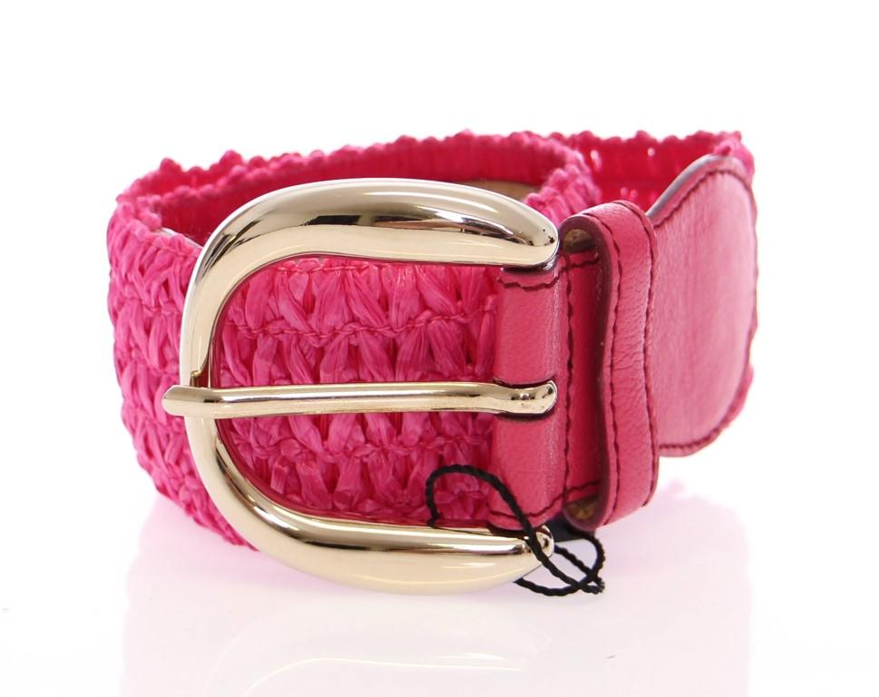 Dolce & Gabbana Women's Cotton Stretch Logo Belt Purple BHD10384 - 70 cm / 28 Inches