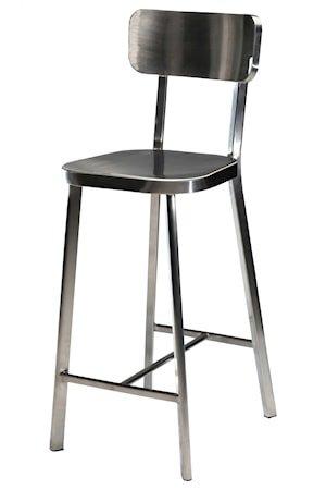 Carisma barstol – Børstet stål