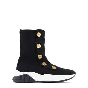 Balmain Branded Buttons Sock Sneakers Svarta 35 (UK 2.5)