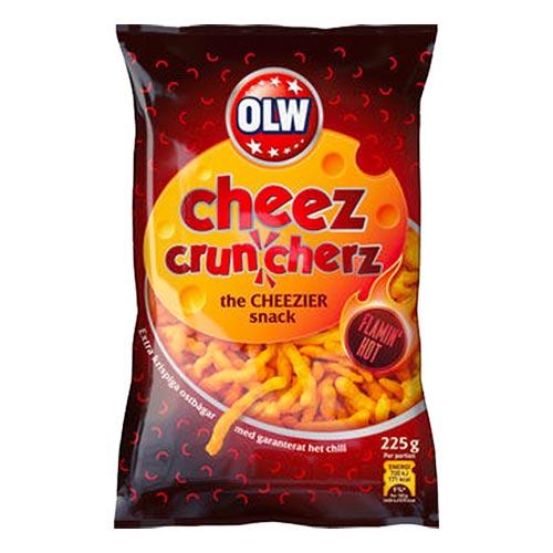 OLW Flamin Hot Cruncherz - 225 gram