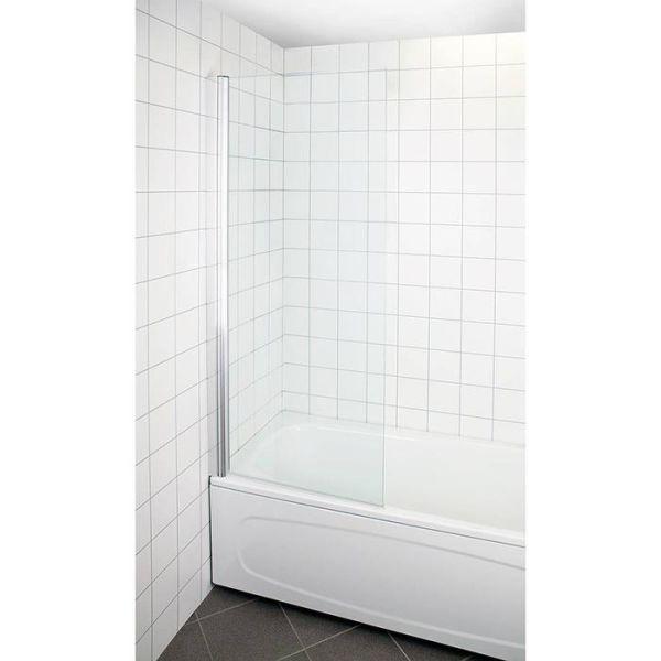 Arrow Bath Badekarvegg vendbar, klarglass, 1500 x 800 mm