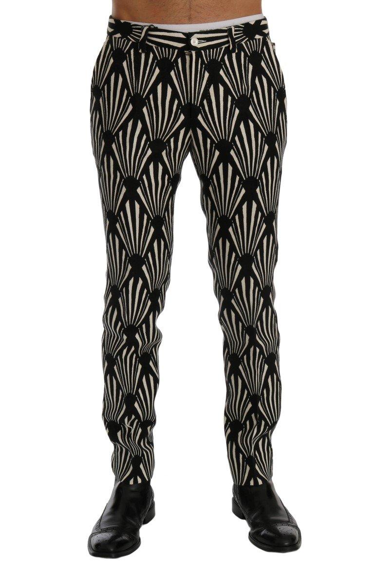 Dolce & Gabbana Men's Slim Fit Hemp Linen Trouser Black SIG60401 - IT44 | XS