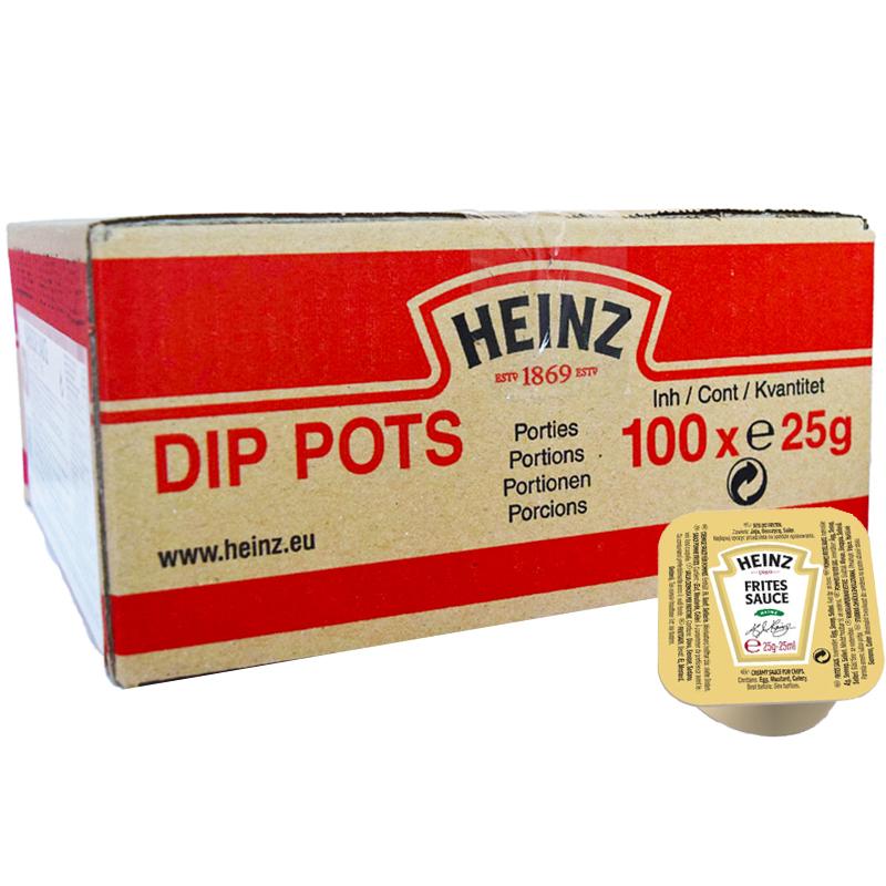 "Hel Låda Dipsåser ""Frites Sauce"" 100 x 25g - 42% rabatt"
