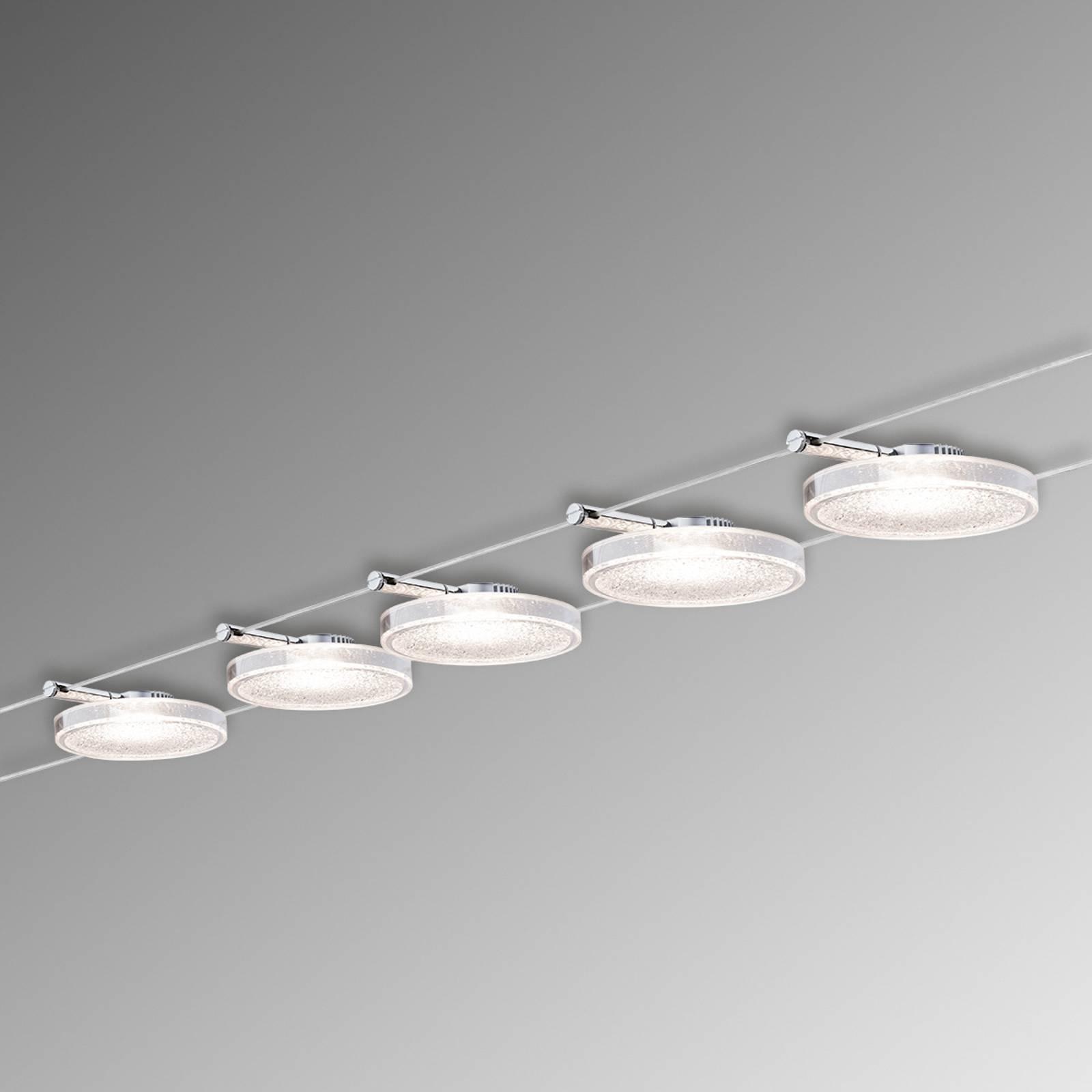 Paulmann DiscLED II köysijärjestelmä, 5-lamppuinen