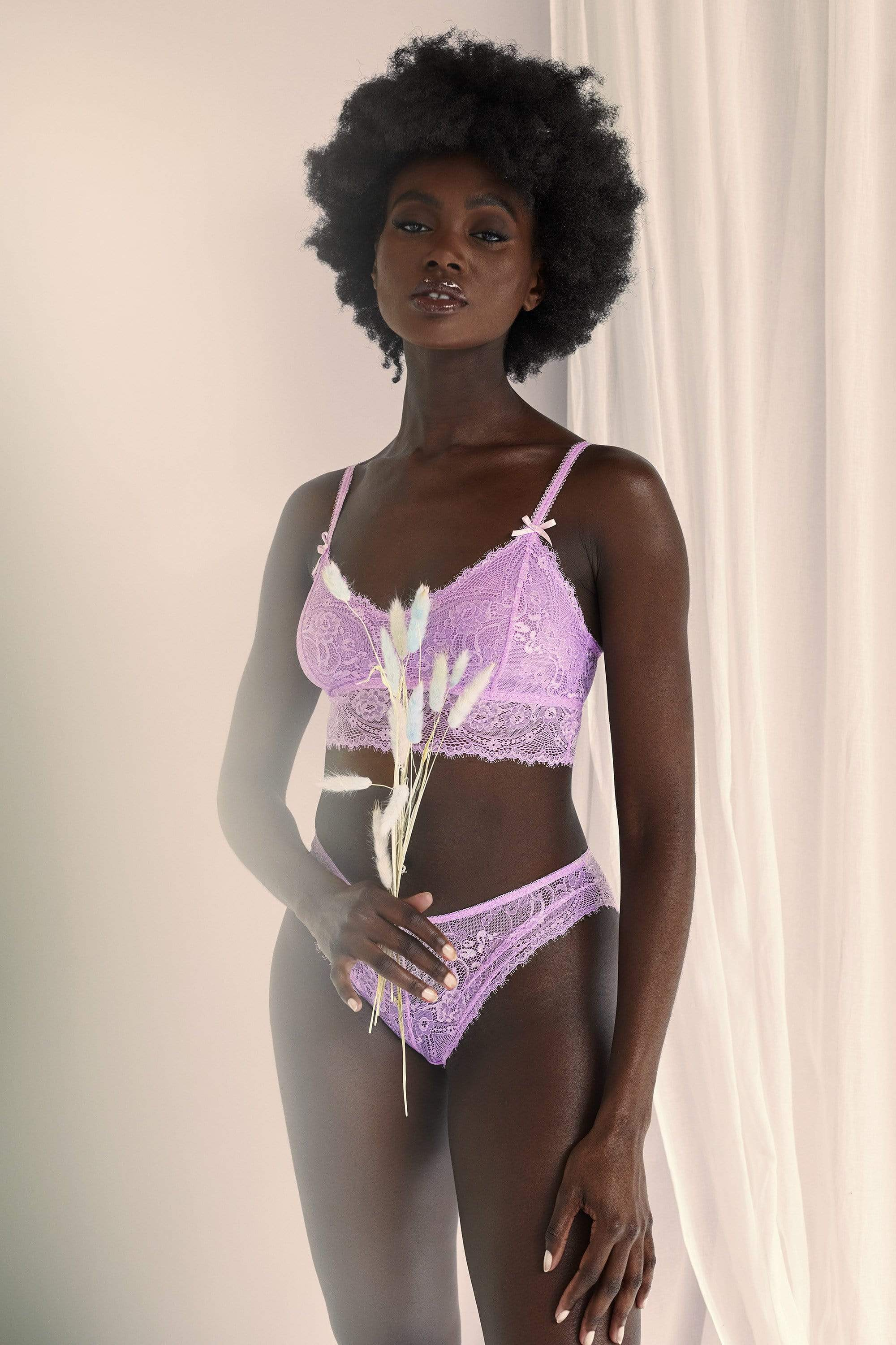 Wolf & Whistle Ariana Lilac Everyday Lace Bralette UK 10 / US 6