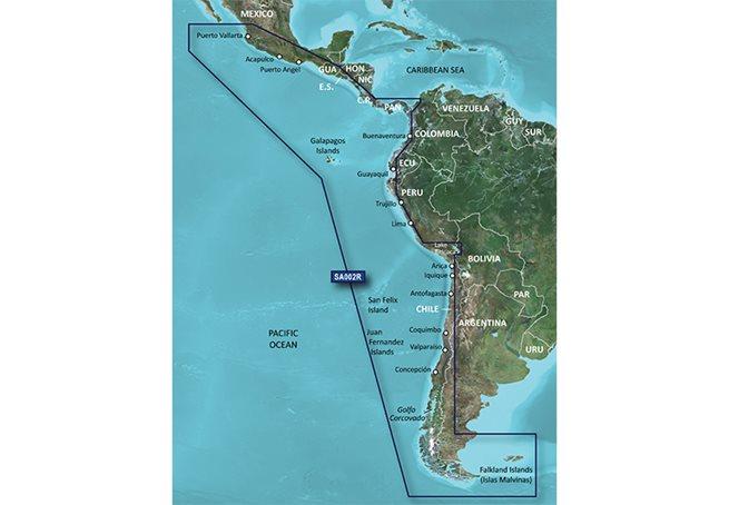 Garmin South America West Coast Garmin microSD™/SD™ card: HXSA002R