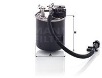 Polttoainesuodatin MANN-FILTER WK 820/19