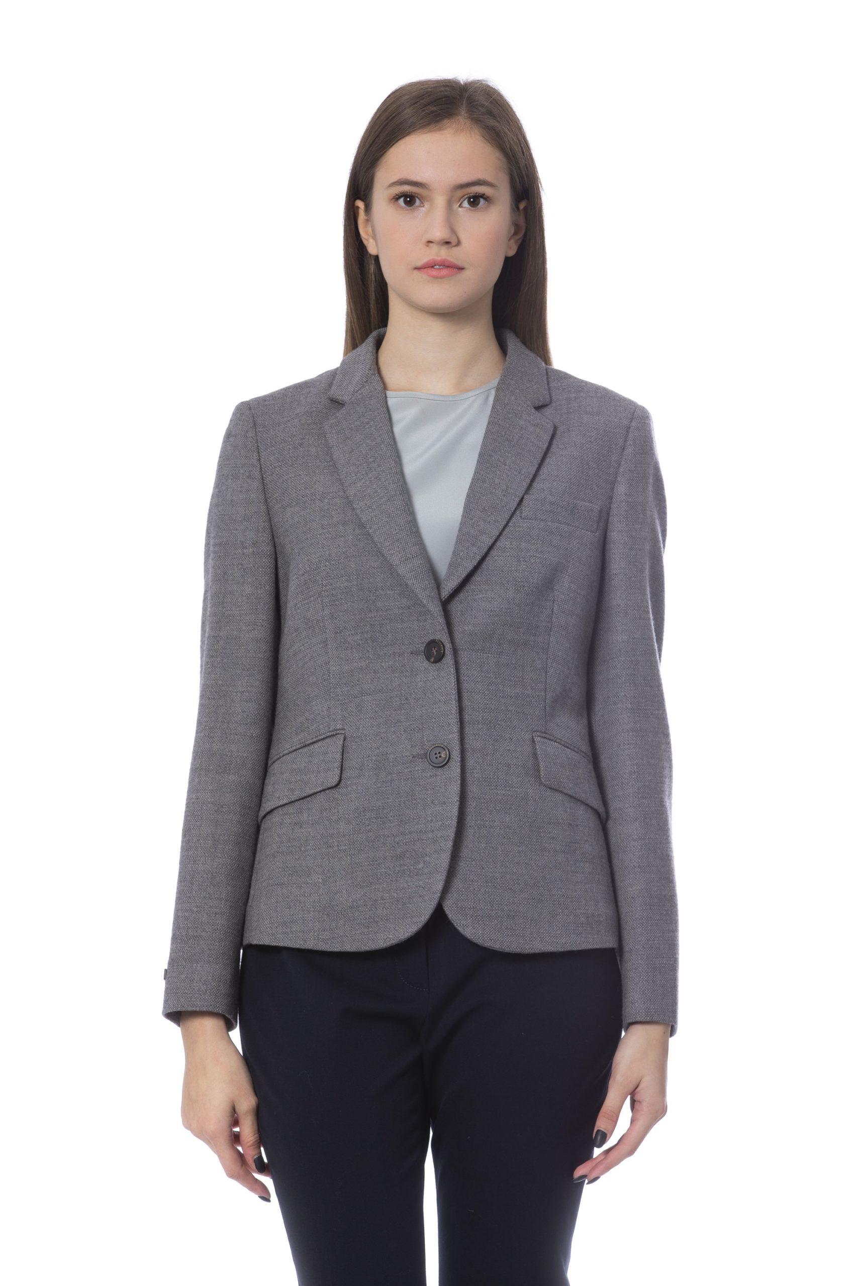 Peserico Women's Jacket Grey PE854570 - IT42   S
