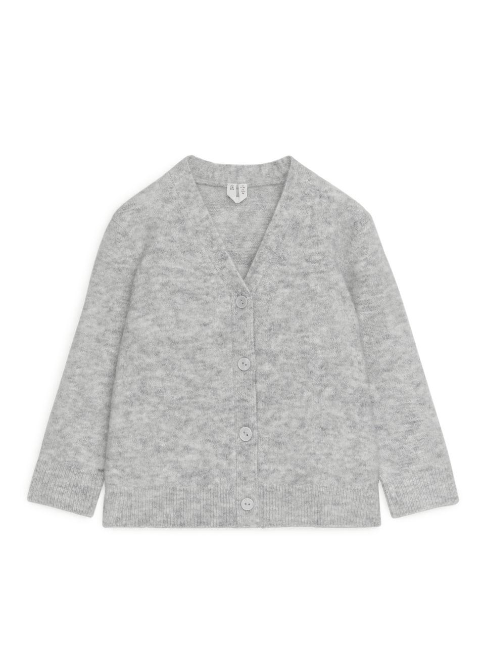 Alpaca-Merino Cardigan - Grey