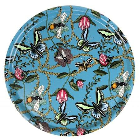 Nadja Wedin Design Brett 38 cm Bugs & Butterflies Turkis