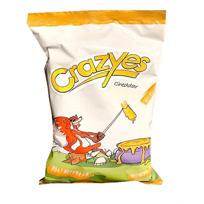 """Majschips """"Crazyes"""" Cheddar 125g - 25% rabatt"""