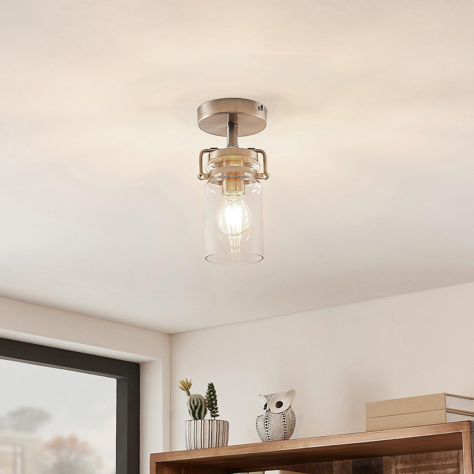 Lindby Vintus taklampe, nikkel