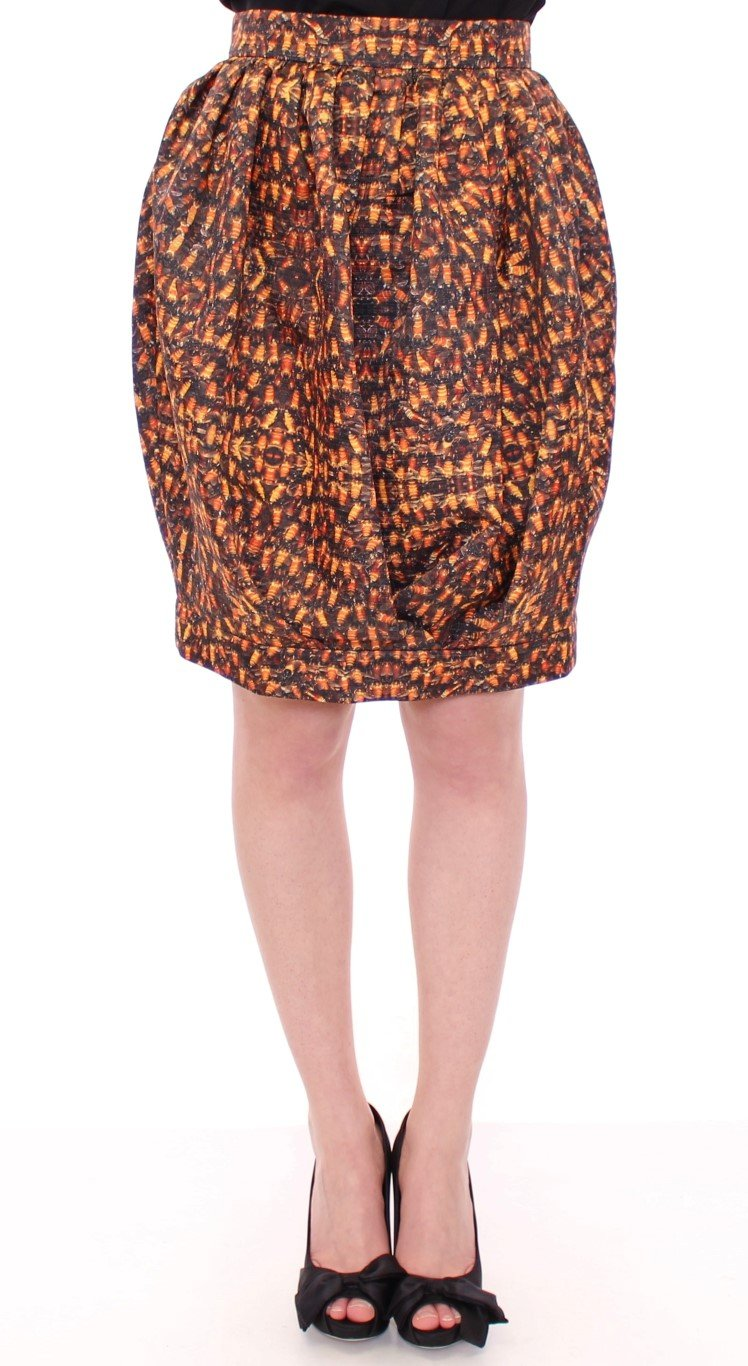 KAALE SUKTAE Women's Bubble Bee Print Skirt Multicolor MOM10084 - IT40|S