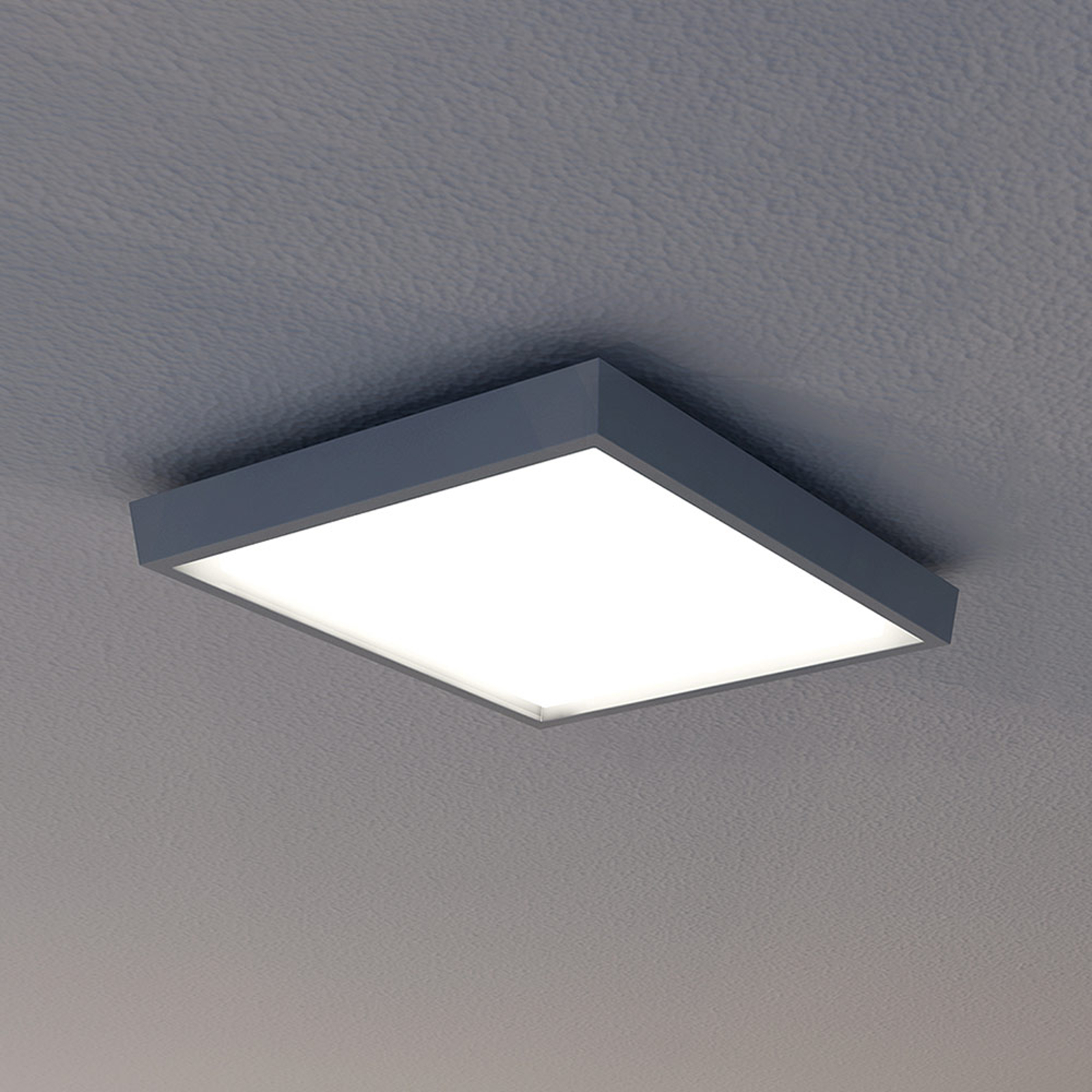 LED-ulkokattovalaisin IP54, antrasiitti, 27x27 cm