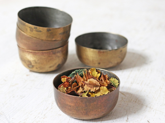 Vintage Brass Bowl (Small) Gold