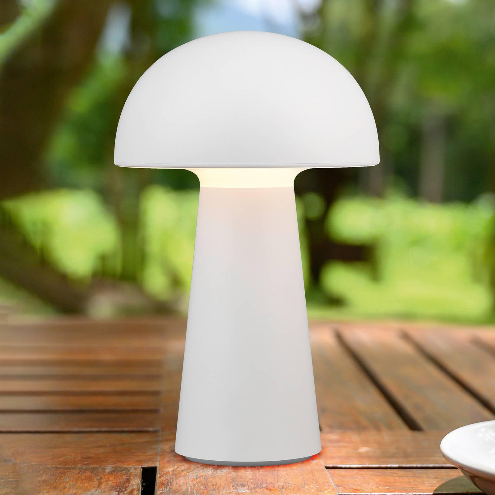 LED-pöytälamppu Lennon, akku, valkoinen