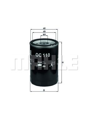 Öljynsuodatin MAHLE ORIGINAL OC 110