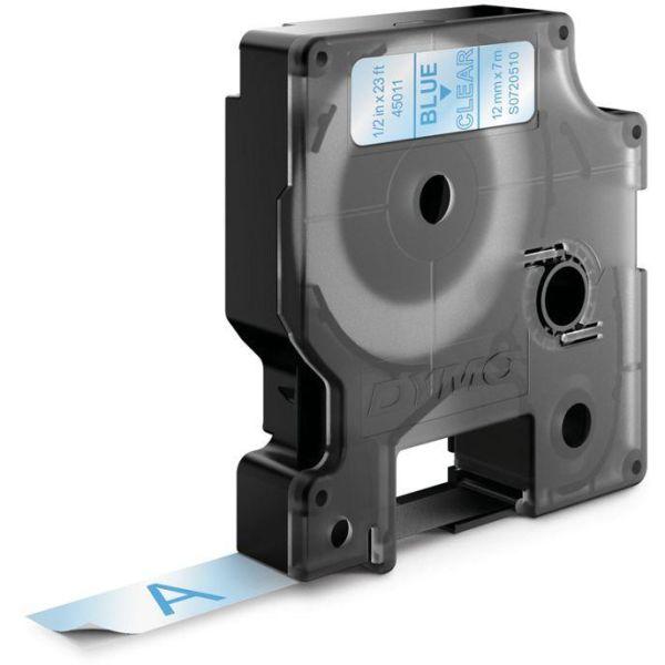 DYMO Standard D1 Teip 12mm Blått på transparent