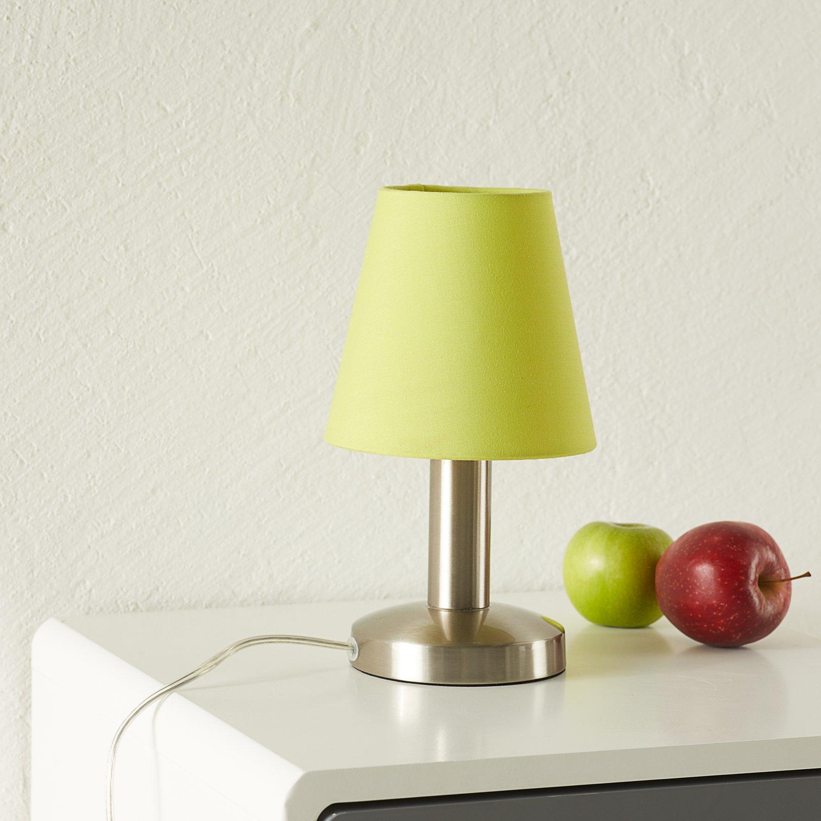 Grønn bordlampe Merete med touch-bryter