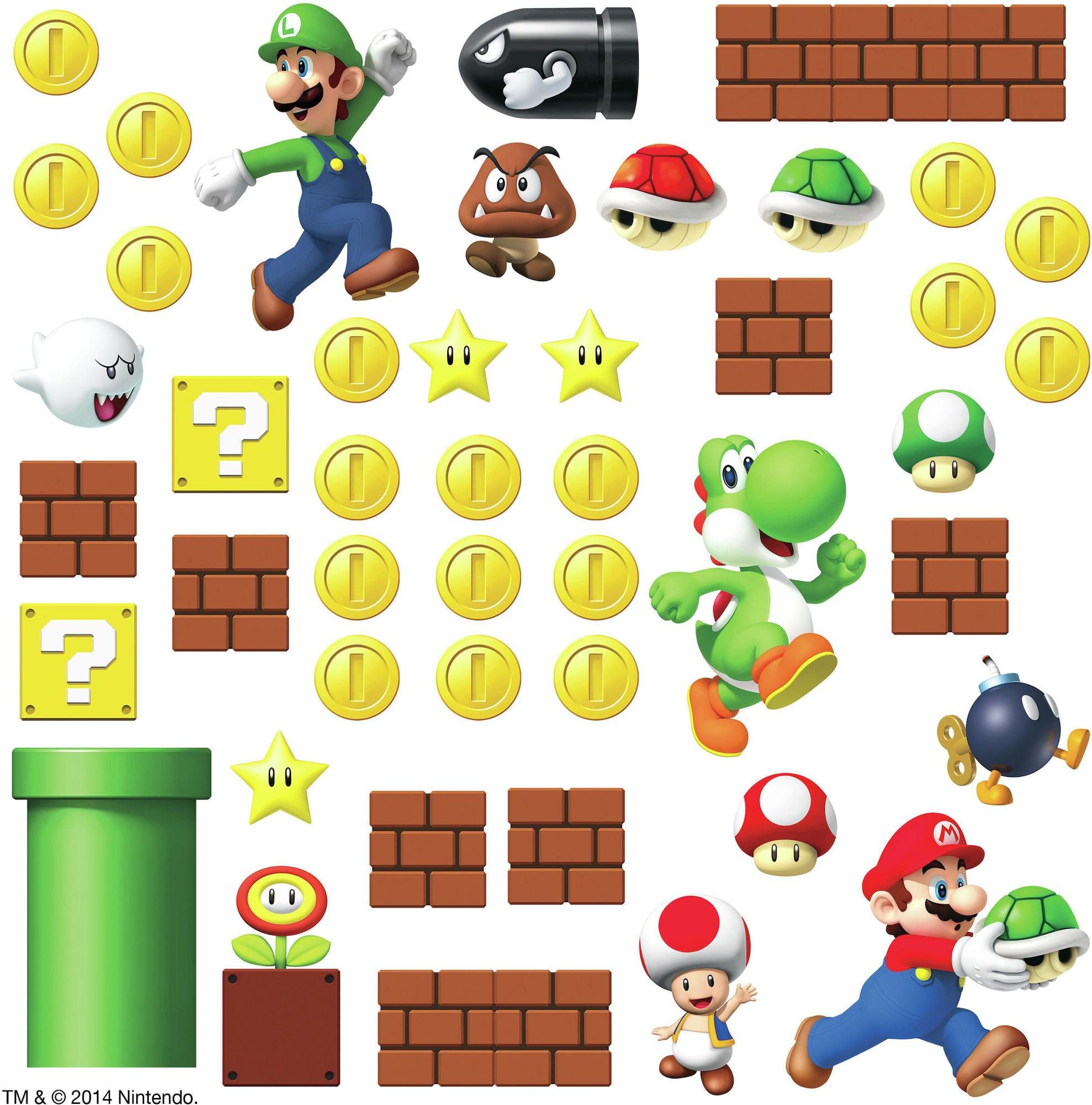 RoomMates Sisustustarrat Nintendo Super Mario