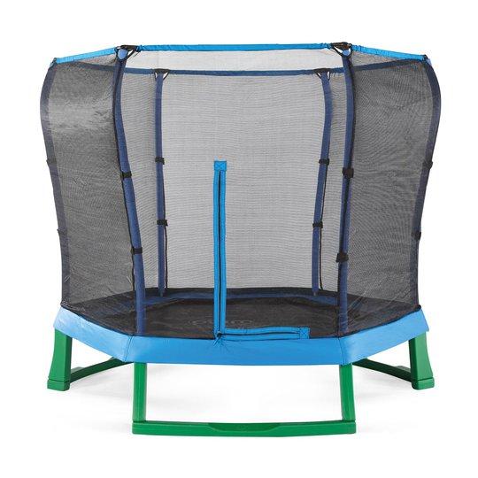 Plum Junior Jumper Trampoline inkl. Sikkerhetsnett 220 cm, Blå/Grön