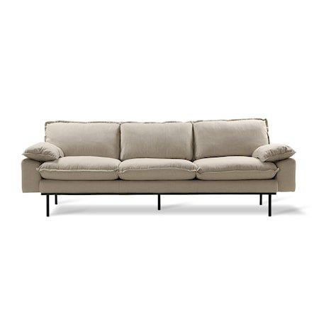 Retro Sofa 4-seter cosy Beige