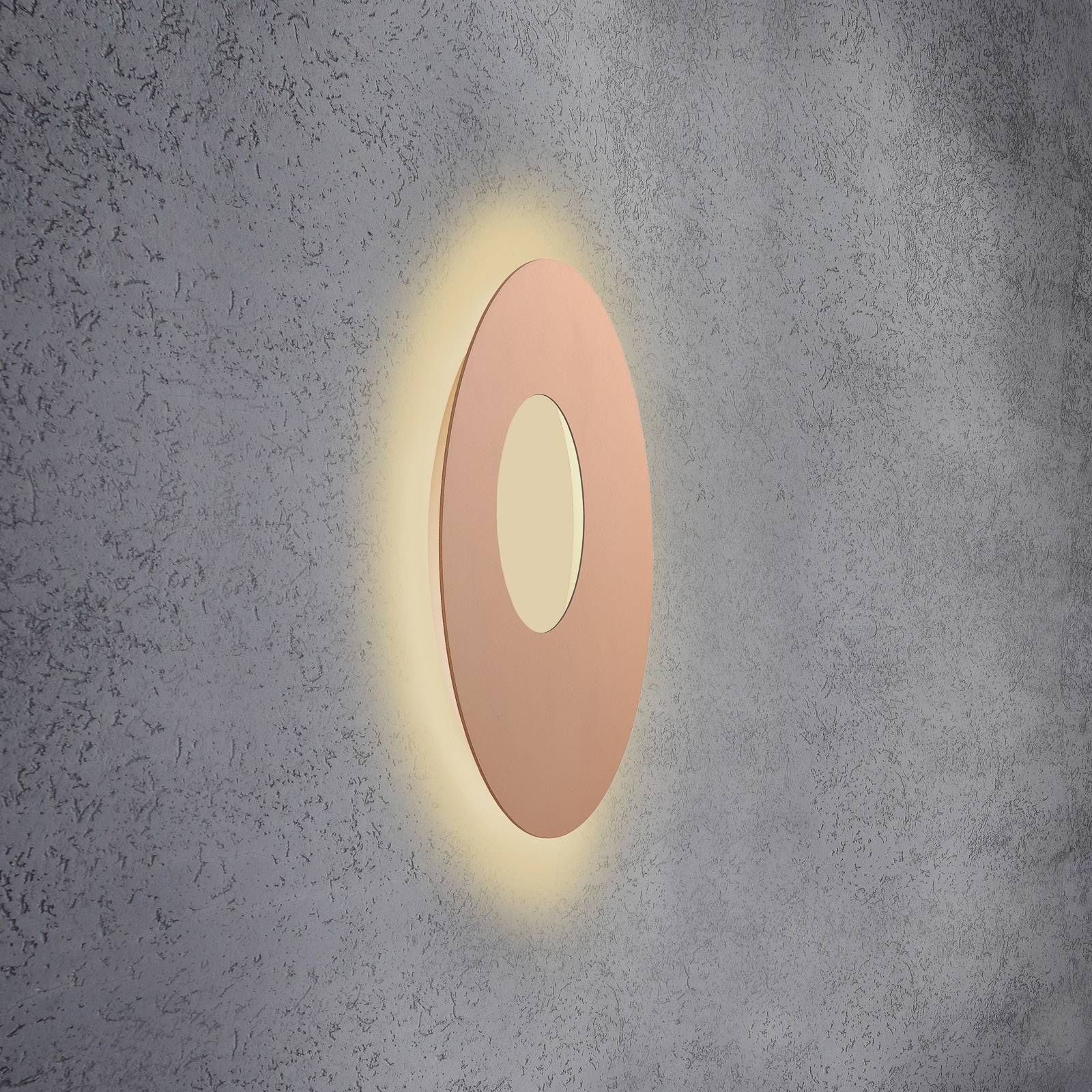 Escale Blade Open -LED-seinävalaisin, roosa, Ø59cm