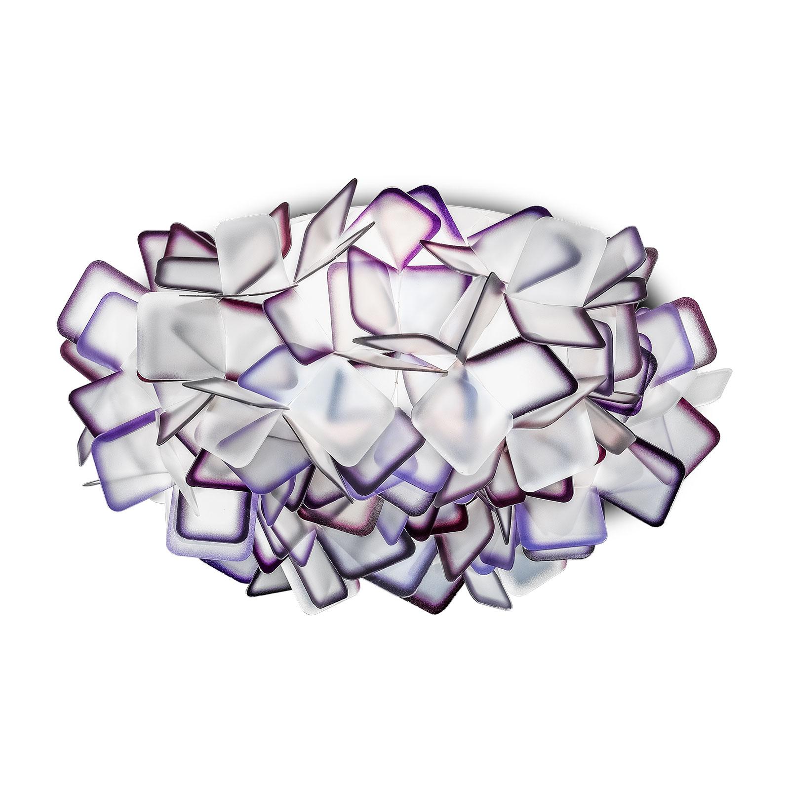 Slamp Clizia -kattovalaisin, Ø 32 cm, violetti