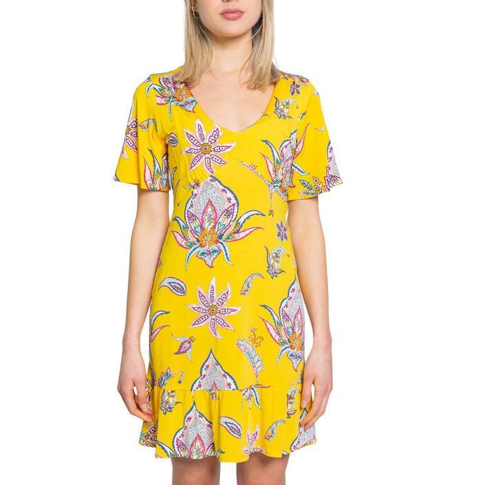 Desigual Women's Dress Yellow 192486 - yellow S