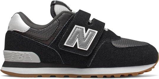 New Balance 574 Sneaker, Black, 30