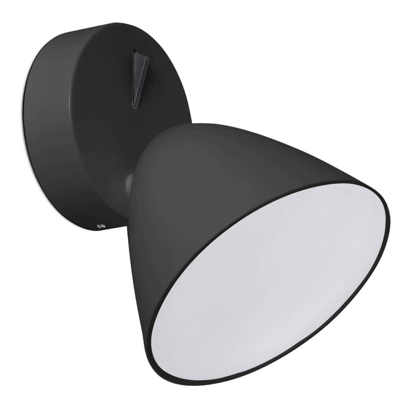 Flash - svart LED-vegglampe