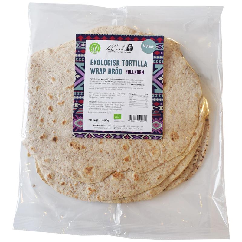 Tortillawraps Fullkorn 6 * 75 g - 60% rabatt