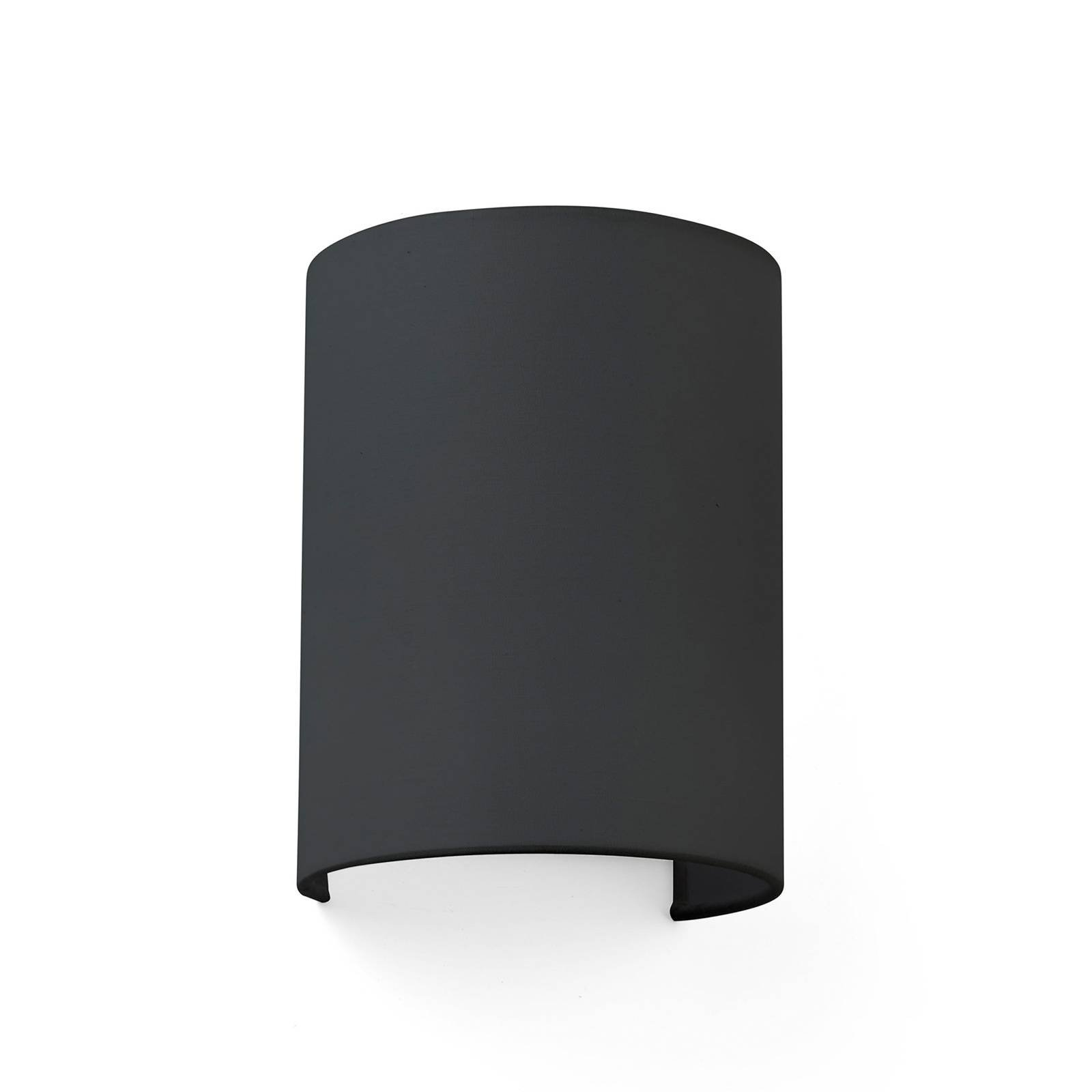 Vegglampe Cotton, buet, 20 x 15 cm, svart