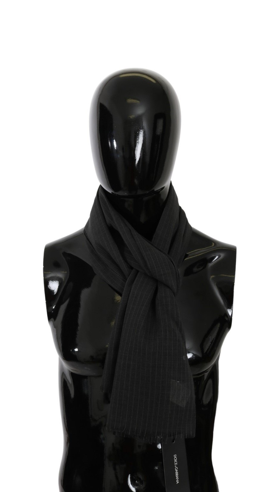 Dolce & Gabbana Men's Neck Wrap Silk Scarf Gray MS5571