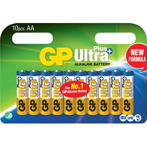 Batteri GP Alkaline Ultra Plus AAA, 10-pack