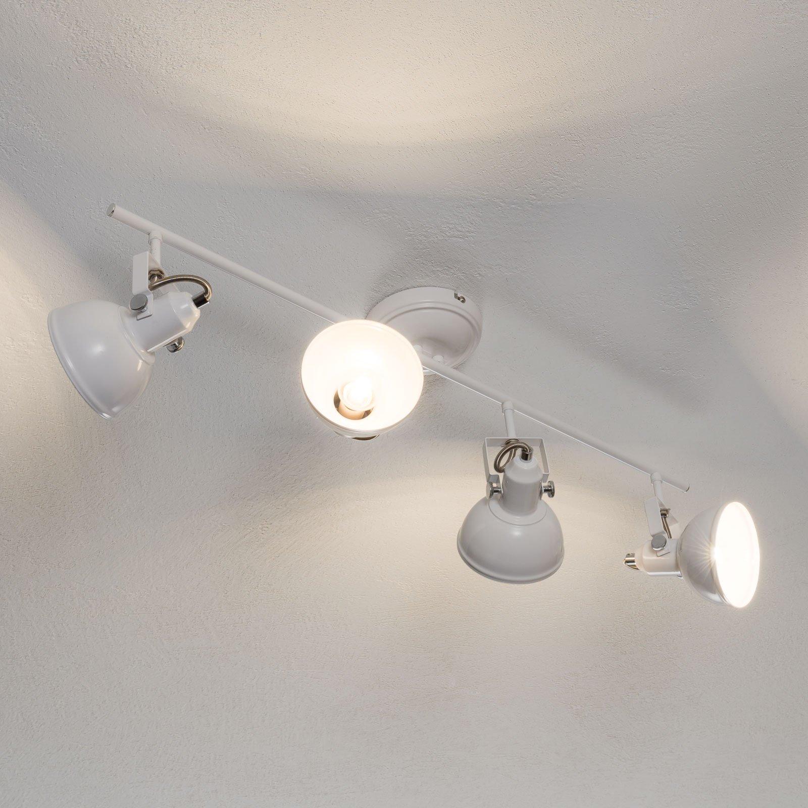 Taklampe Gina, 4 lyskilder, hvit