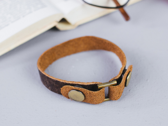 Leather Bracelet Large Brown