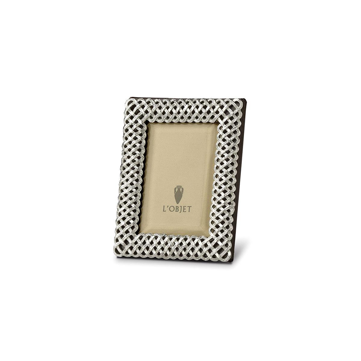L'Objet I Braid Frame Extra Small Platinum