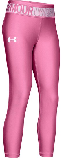 Under Armour Ankle Crop Tights, Pace Pink M