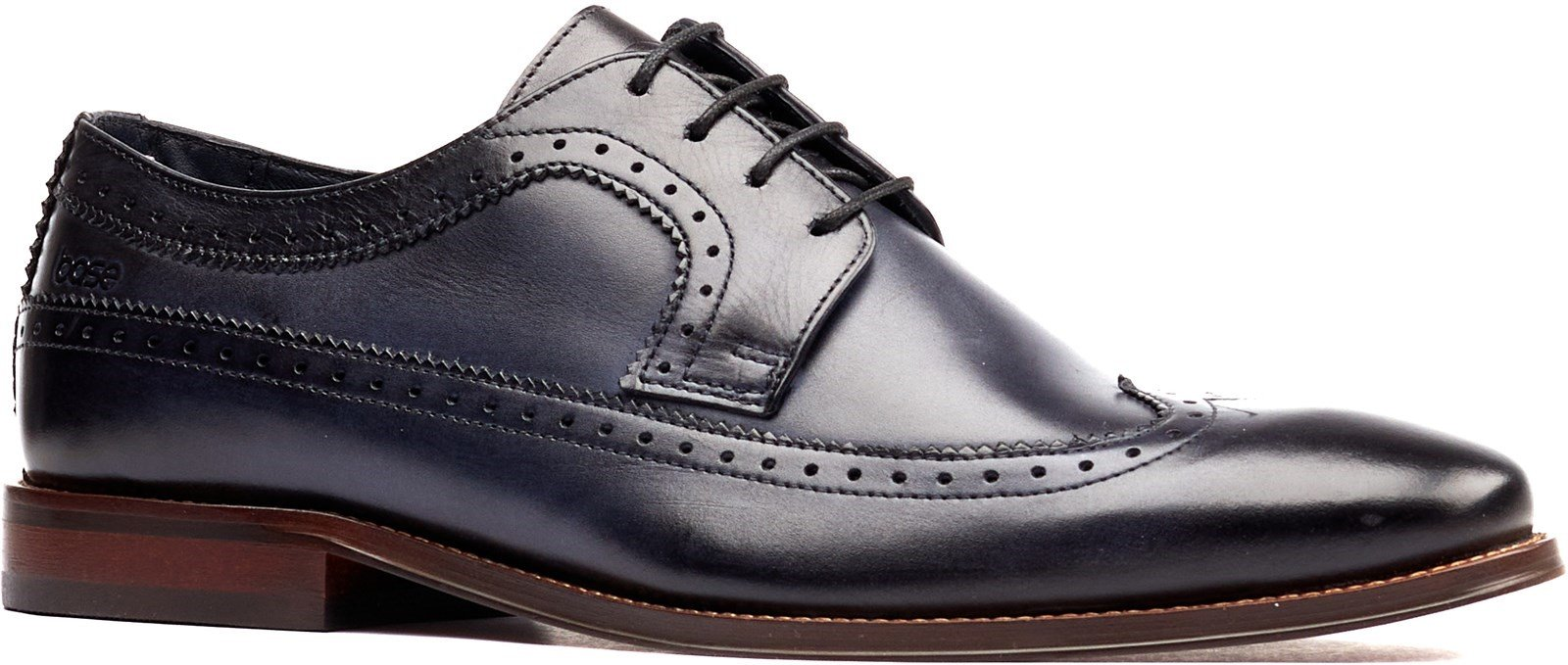Base London Men's Havisham Plain Toe Derby Shoe Various Colours 32247 - Navy 7