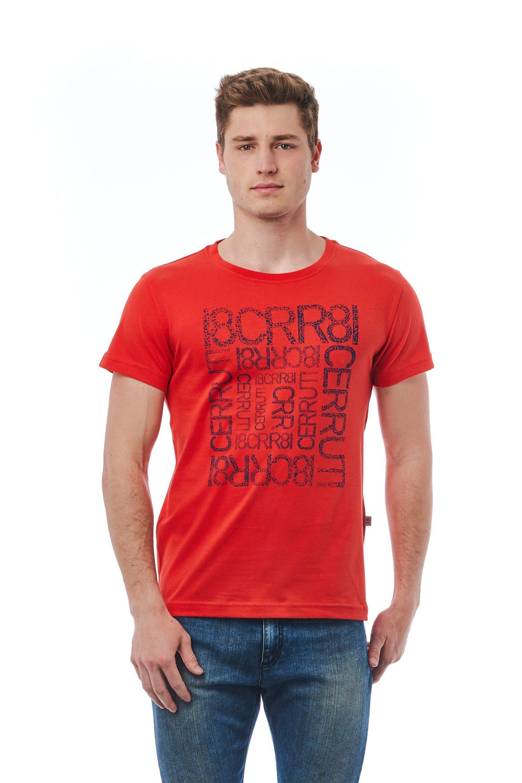 Cerruti 1881 Men's Rosso T-Shirt Red CE1409920 - M