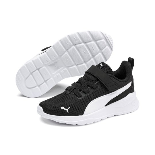Puma Anzarun Lite AC PS Sneaker, Black/White, 30